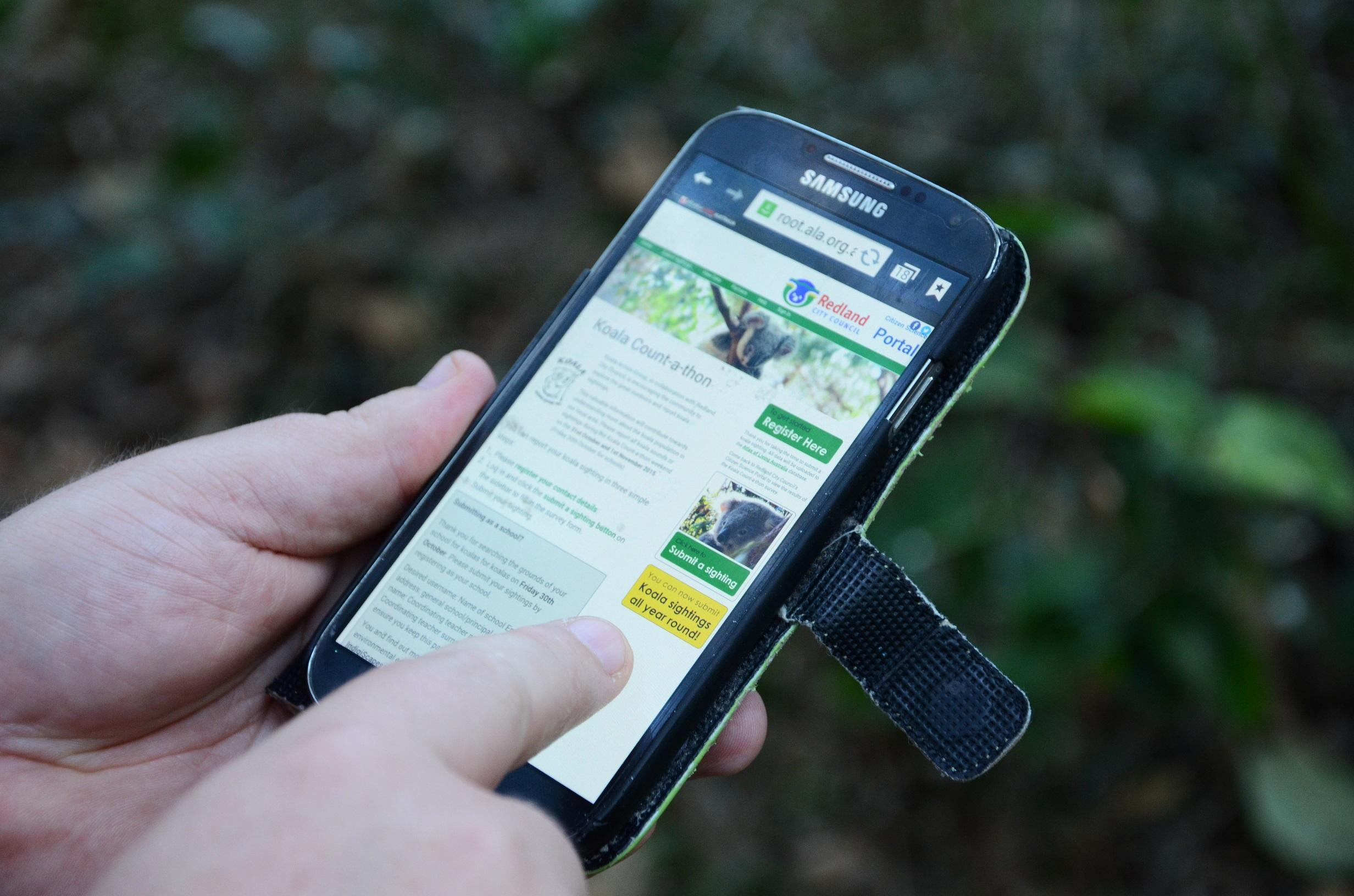 Citizen science in the Redlands - phone app
