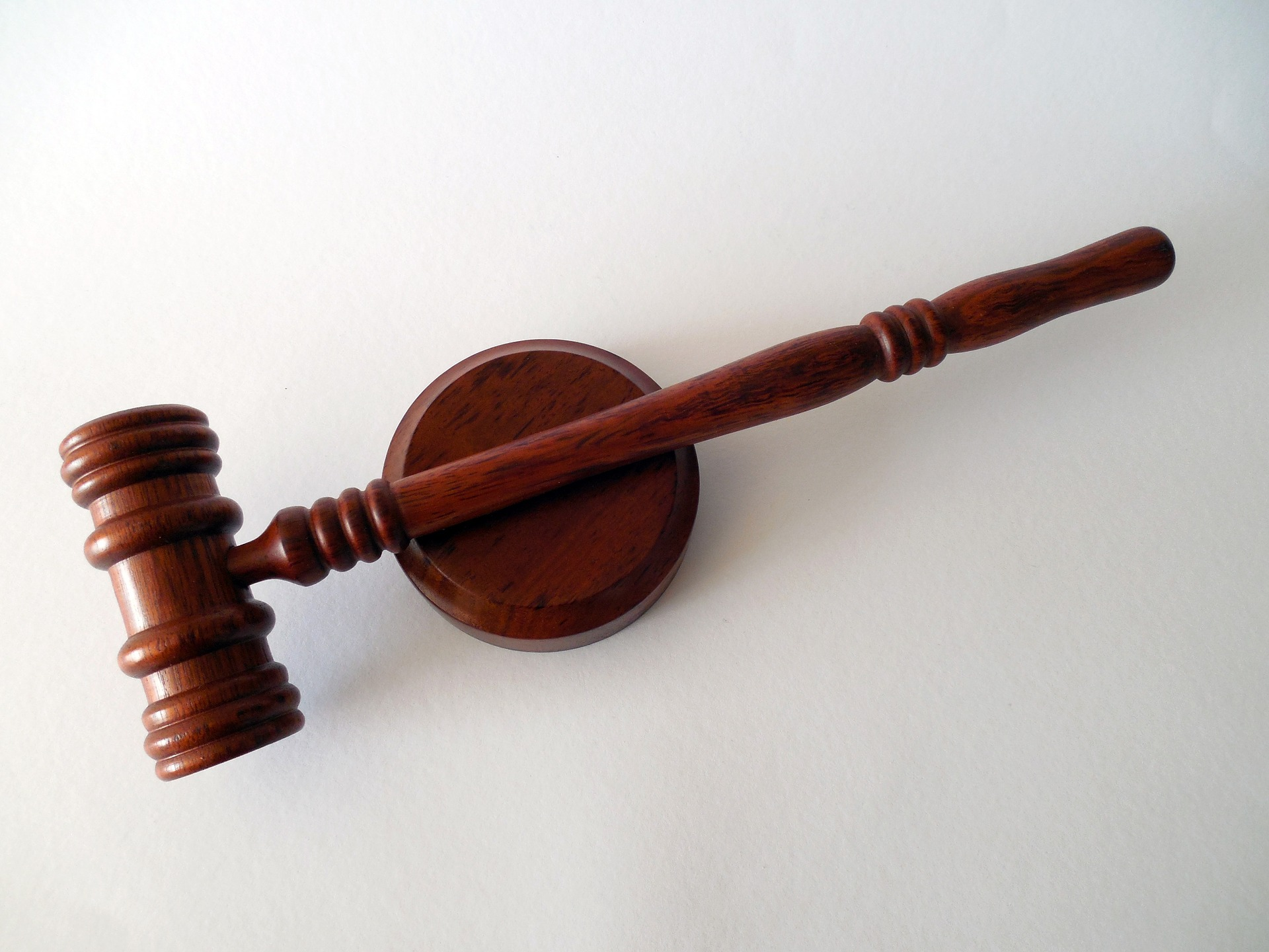 Auction gavel for land sale