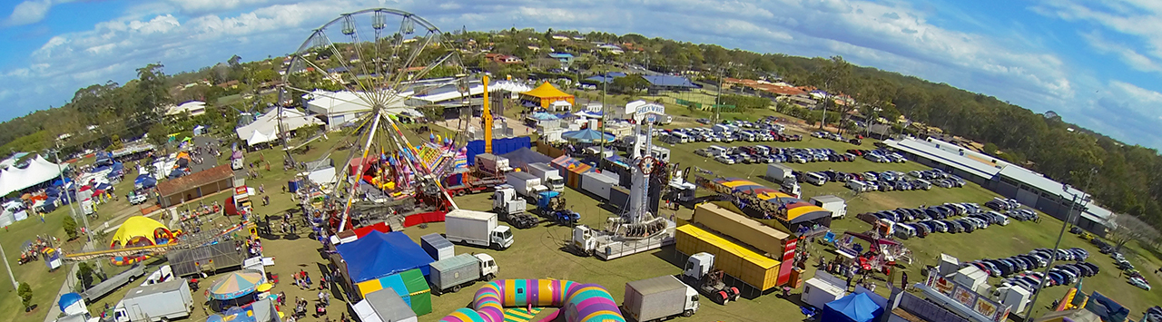 Over head picture of Red Fest