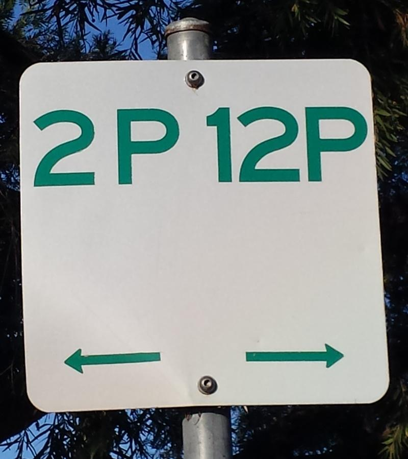 Weinam Creek 12 and 2 hour parking sign